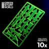 Flèches de Charge et Recul - Fluor Vert jaunâtre