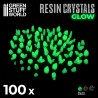 GREEN GLOW Resin Crystals - Small