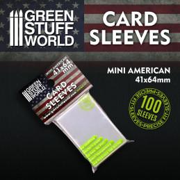 Pochettes de Cartes - Mini Americain 41x64mm