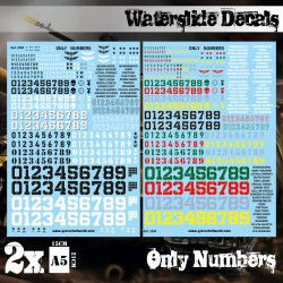Decalcomanies a l'eau - Juste chiffres