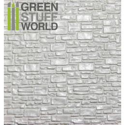 Plancha Plasticard Texturizado LADRILLO LISO - tamaño A4