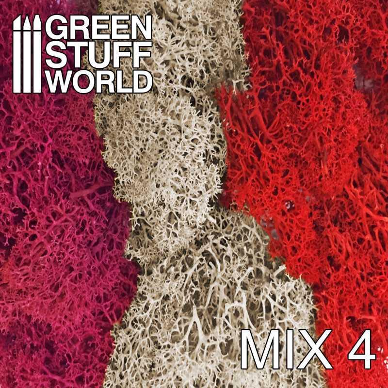 Islandmoss - Red Fuchsia and Grey Mix