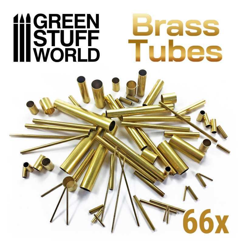 66x Assortiment de tubes en laiton