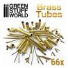 66x Brass Tubes Assortment