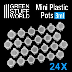 24x Mini Plastic Pots 3ml