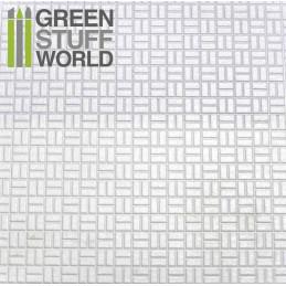 Plancha Plasticard Texturizado LADRILLOS CESTERIA - tamaño A4
