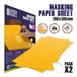 Masking Paper Sheets x2