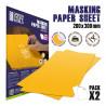 Blatt Abdeckpapier x2