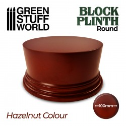 Round Block Plinth 10cm - Hazelnut