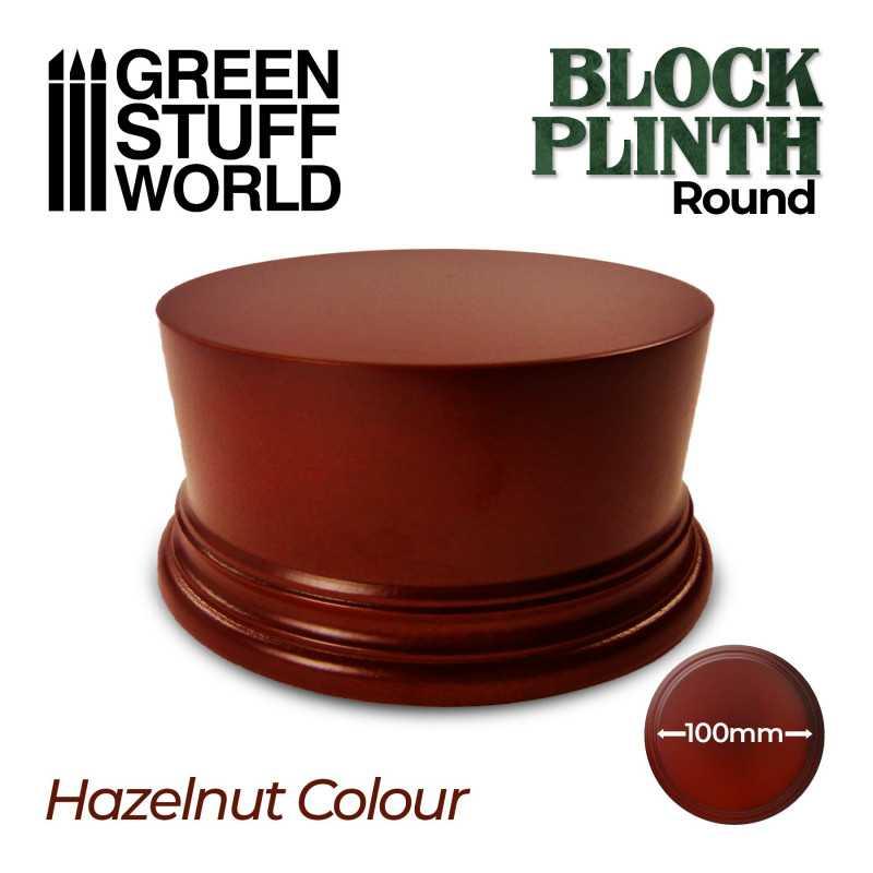 Round Block Plinth 10cm - Hazelnut