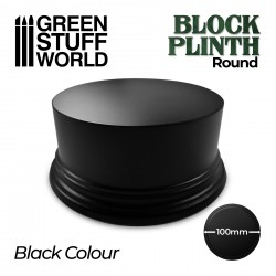 Round Block Plinth 10cm - Black