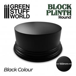 Socle Cylindre Ouvragé 10cm - Noir
