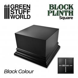 Quadratischer Ausstellungssockel 8x8 cm - Schwarz