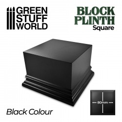 Square Top Display Plinth 8x8 cm - Black