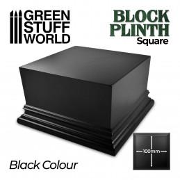 Quadratischer Ausstellungssockel 10x10cm - Schwarz