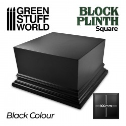 Square Top Display Plinth 10x10cm - Black
