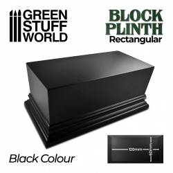 Rectangular Top Display Plinth 12x6cm - Black