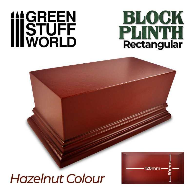 Rectangular Top Display Plinth 12x6cm - Hazelnut Brown