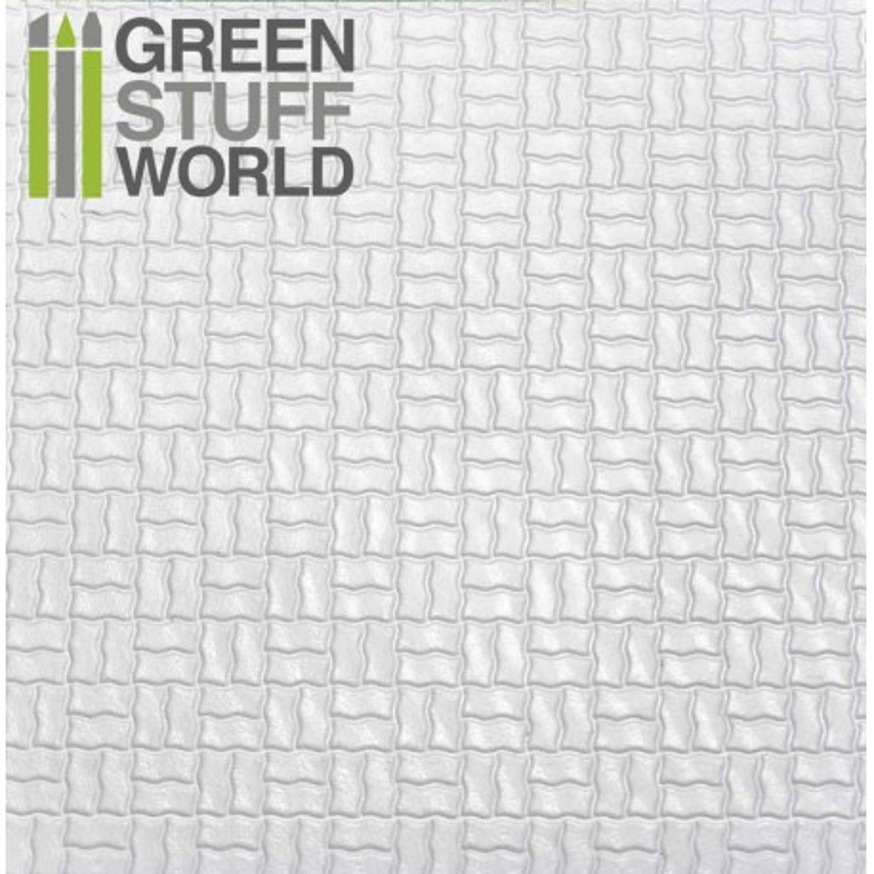 Plancha Plasticard Texturizado LADRILLOS CESTERIA CURVADO - tamaño A4