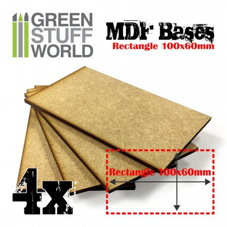 Socles RECTANGULAIRES 100x60mm en MDF