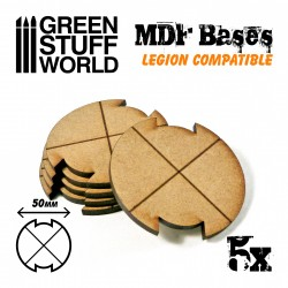 50 mm runde MDF Basen - Starwars legion