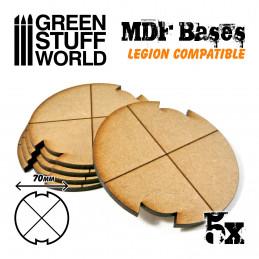 Socles ROND 70 mm en MDF (Legion)