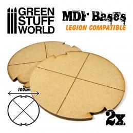 Socles ROND 100 mm en MDF (Legion)