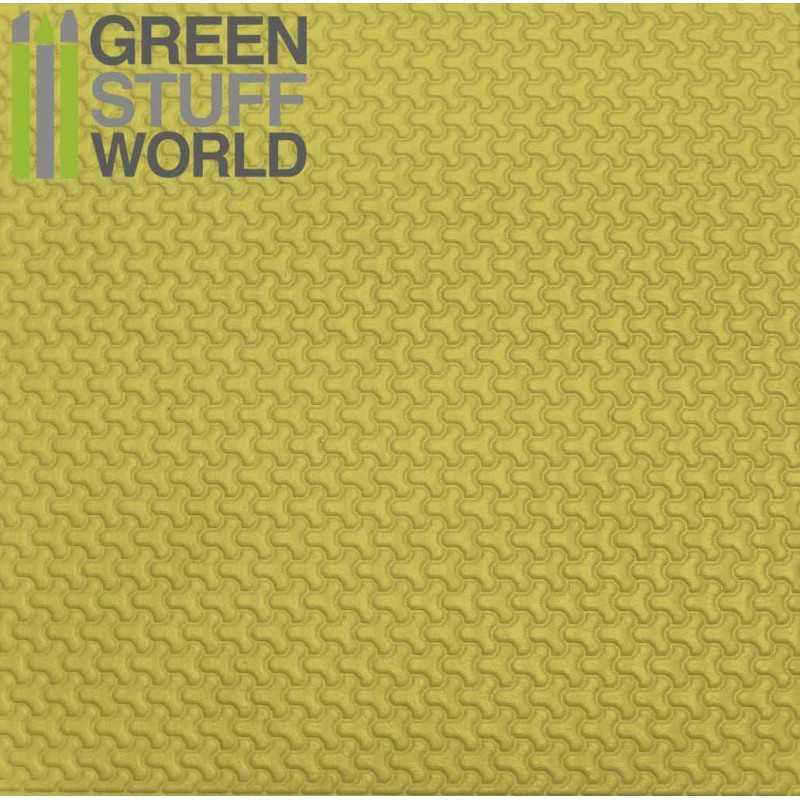 Plancha Plasticard Texturizado LADRILLOS FORMA-Y - tamaño A4