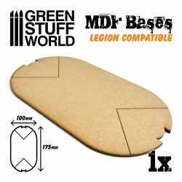 Socles OVALES 100x175 mm en MDF (Legion)