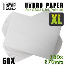 Hidro papel XL x50 (180x270mm)