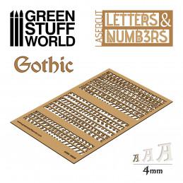 Letras y números 4 mm GOTICOS