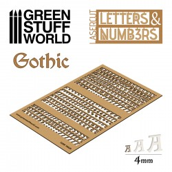 Letters and Numbers 4 mm GOTHIC
