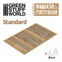 Lettres et nombres 4 mm STANDARD