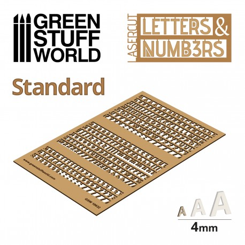 Lettres et nombres 4 mm CLASSIQUE