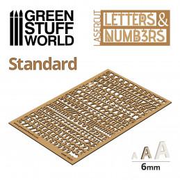 Buchstaben und Zahlen 6 mm KLASSISCH