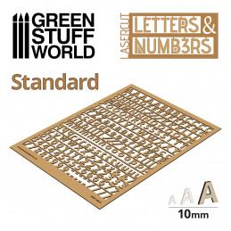 Letras y números 10 mm CLASICAS