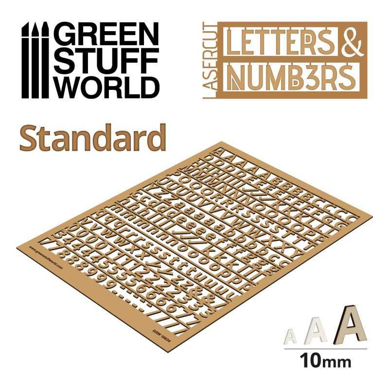 Lettres et nombres 10 mm CLASSIQUE