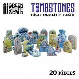 20x Lápidas Cementerio de Resina