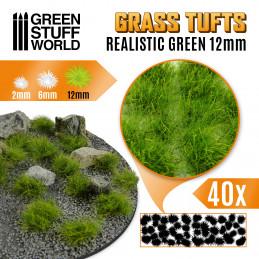 Grasbüscheln - Selbstklebend - 12mm - Realistische Grün