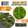 Touffes d'herbe - 12mm - Auto-Adhésif - VERT RÉALISTE