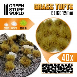 Grasbüschel - Selbstklebend - 12mm - Beige
