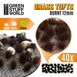 Touffes d'herbe XL - 12mm - Auto-Adhésif - BRULE