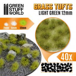 Grass TUFTS - 12mm self-adhesive - LIGHT GREEN