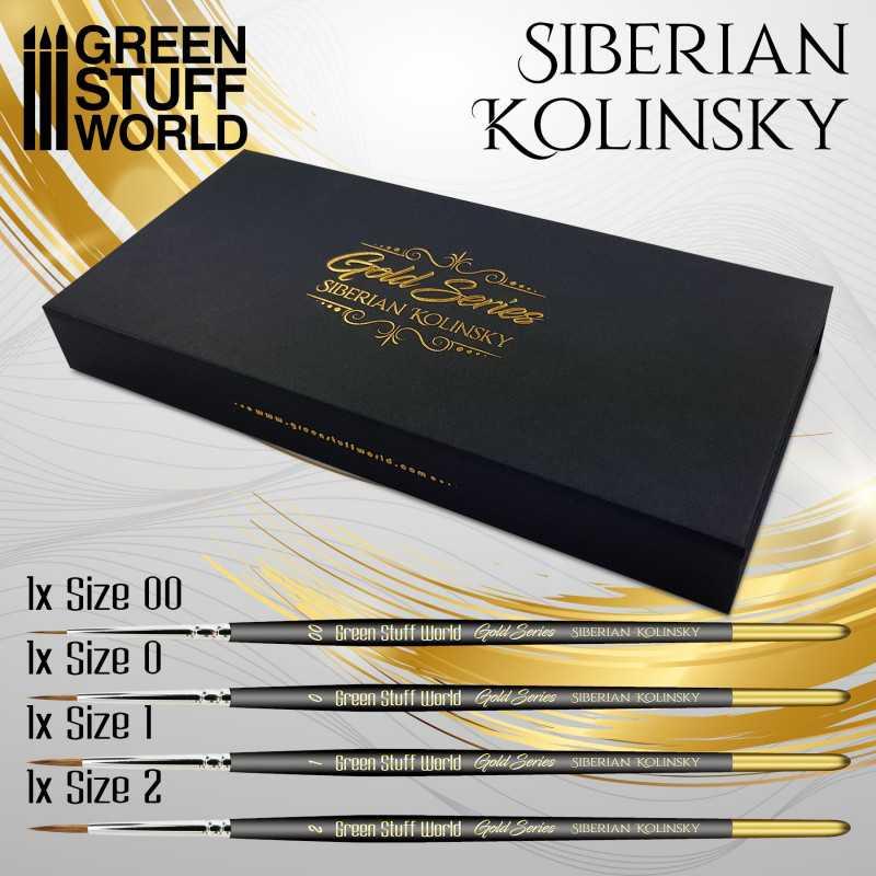 Premium Gold Series - Sibirischer kolinsky pinselset
