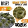 Touffes d'herbe - 12mm - Auto-Adhésif - VERT SEC