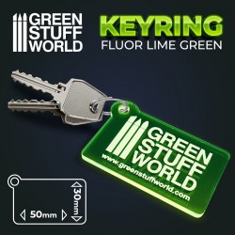 Schlüsselbund - quadratisch grün