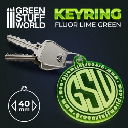 Round GSW logo Keyring - Green