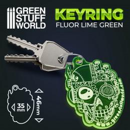 GSW skull Keyring - Fluor Green