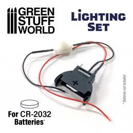 Set Iluminacion de LEDs con Interruptor