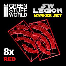 Marqueurs de ligne de tir Legion - Rouge
